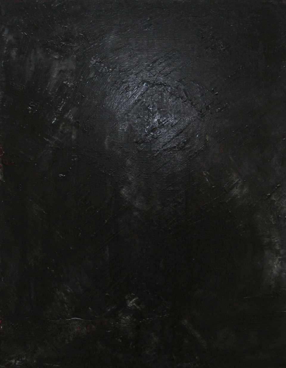 Black Infinity: A small painting about 0.9m by 0.6m. Its subject is infinity and boundlessness.